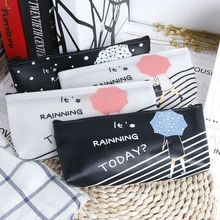 Cartoon Umbrella Pattern Pencil Case Large Capacity Student Pencil Organization storage Bag