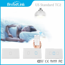 Broadlink TC2 US 1/2/3gang WiFi Wireless Wall Touch Light Switch Panel IOS Android Remote Control 110V-240V SmarHome Automation