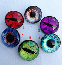 24pcs(Mixed 6 style) Cat Eye Brooches Glass Cabochon ouch KT picture silver Round Hairwear Cartoon breastpin