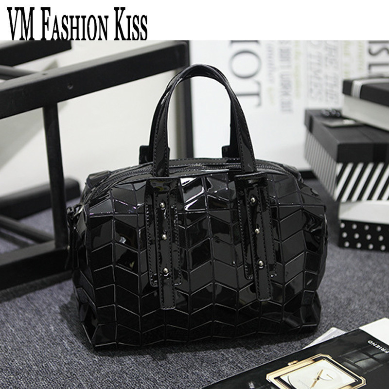 VM FASHION KISS Brand New Women Bao Bao Bag High Quality Geometric Handbags Plaid Shoulder Diamond 3D Casual Boston Tote Japan<br>