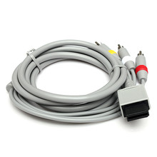 100Ppcs lots Top quality 1.8m 6FT AV Composite 3 RCA Cable Audio Video Cable for Wii(China)
