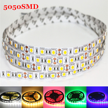 1m 2m 3m 4m 5m DC 12V Flexible LED Strip light 5050SMD ip20 Non-waterproof 60/120/180/240/300LEDs High Bright 10mm RGB LED Tape(China)