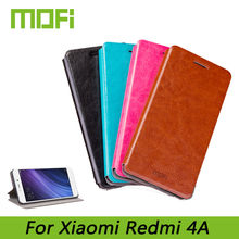 Mofi For Xiaomi Redmi 4A Phone Cases Fashion Book Flip PU Leather Cell Phone Cover For Xiaomi Redmi 4A Stand Case(China)