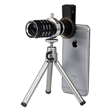 Buy Universal 12x lenses Zoom Camera Phone Lens iPhone 5s 6 6s Plus 7 Lens Optical Telescope Tripod Telephoto Mobile Lenses Kit for $18.69 in AliExpress store