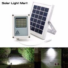 Mini Alpha 180X 35LED 60-230LM 3 Power Modes 5 Meters Cable Outdoor Garden Metal Solar Powered LED Flood Light(China)