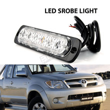 free shipping 12W led strobe warning light auto cars emergency beacon light bar with 16 flashing modes for off road vehicles(China)