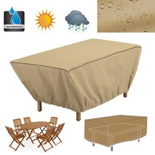 Waterproof Patio Coffee Table Cover 122X76X46cm Garden Outdoor Furniture Protective Cover Table Cloth Dustproof Textile Supplies