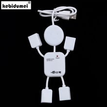 kebidumei 1pcs Multi USB HUB Splitter High Speed 4 Port USB 2.0 Hub Robot Adapter For Camera Printer Game Mouse Car Reader Mp3(China)