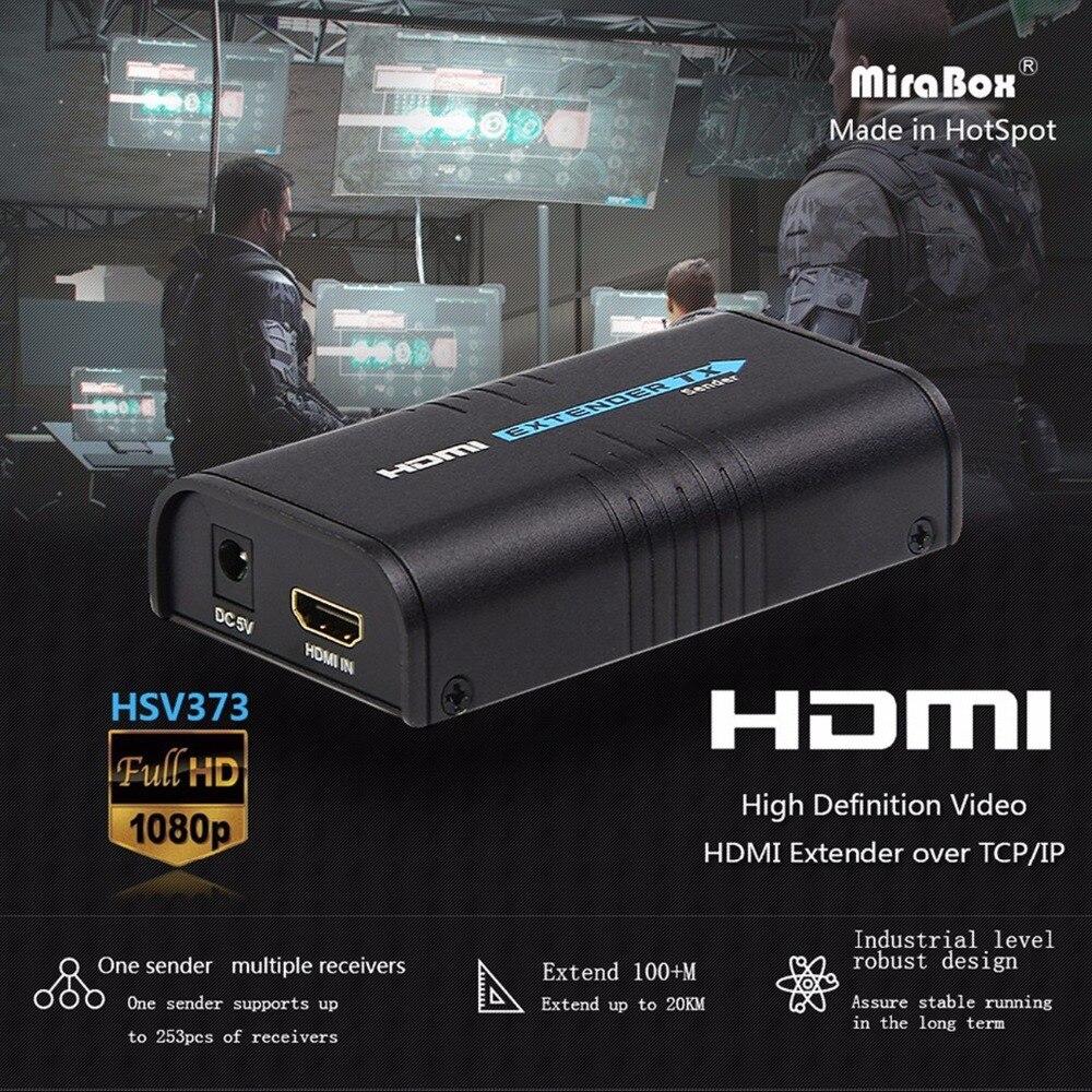 MiraBox HDMI Extender Over Splitter IPTCP UTPSTP CAT5e6 Rj45 LAN Network Support 1080p 120m HDMI Transmitter and Receiver (9)