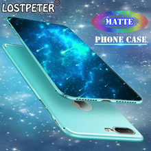 Luxury Matte Ultra Thin Protect Phone Cases For Iphone 6 6s 7 7 Plus Case Full Hard Plastic Back Cover For Iphone 8 8 Plus Case(China)