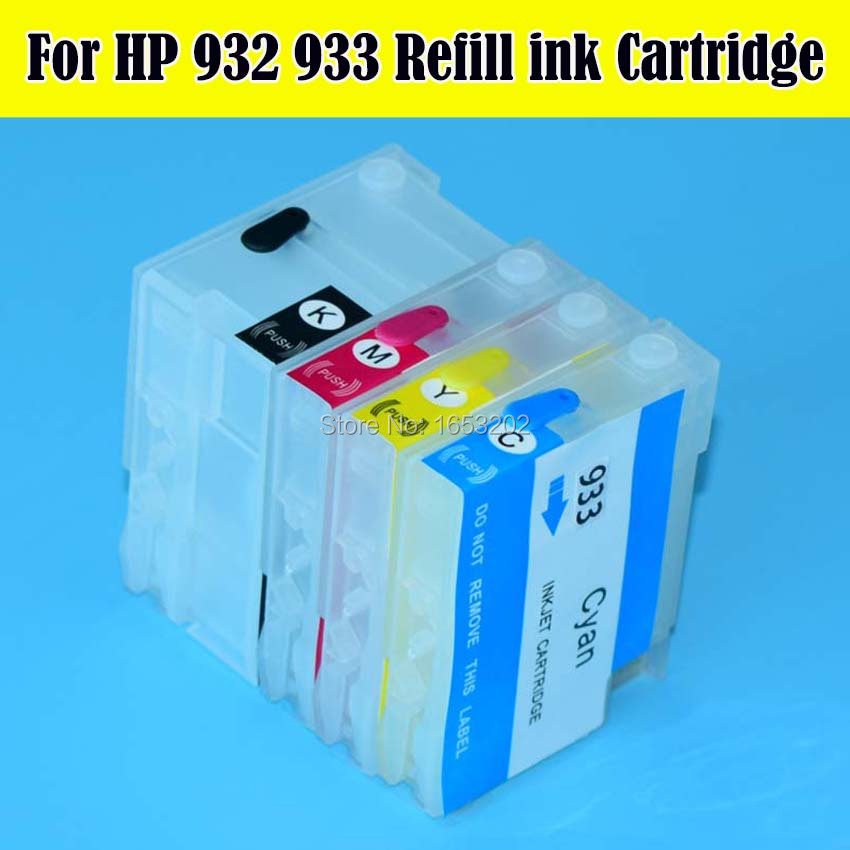 1 Set High Quality Empty For HP932 933 Refillable Ink Cartridge With ARC Chips 7612 7512 7510 7610 7110 Printer Ciss System<br><br>Aliexpress