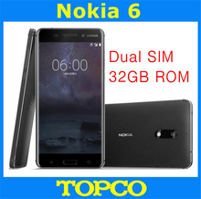 Nokia 6 Original Unlocked Android Mobile Phone 4G LTE GSM 5.5'' 16MP WIFI GPS Octa Core 3GB RAM 32GB ROM Dropshipping(China)