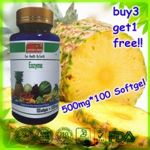 Enzyme soft capsule GMP certification authenticity 100 grains of 500 mg of protect the heart Buy 3 Get 1 Free