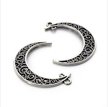 10pcs/lot Silver/Gold/Gunblack Hollow Crescent Moon Charms Pendants for Necklace Bracelet Jewelry Making DIY Handmade Craft Z82