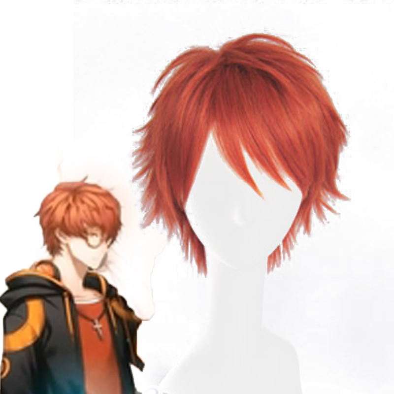 New Game Mystic Messenger 707 Cosplay Wig Short Heat Resistant Fiber Synthetic Hair Wigs Free Shipping<br><br>Aliexpress