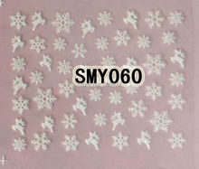 2PCS SMY060 White Snowflake Nail Art Cute Cartoon Sticker Nail Art Sticker