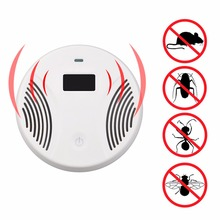 LCD Electronic Ultrasonic Electromagnetic Wave Mouse Pest Rat Repeller US Plug