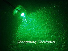 1000pcs 5mm Straw Hat LED Green Light Colour LED Emitting Diode super bright Diffused light(China)