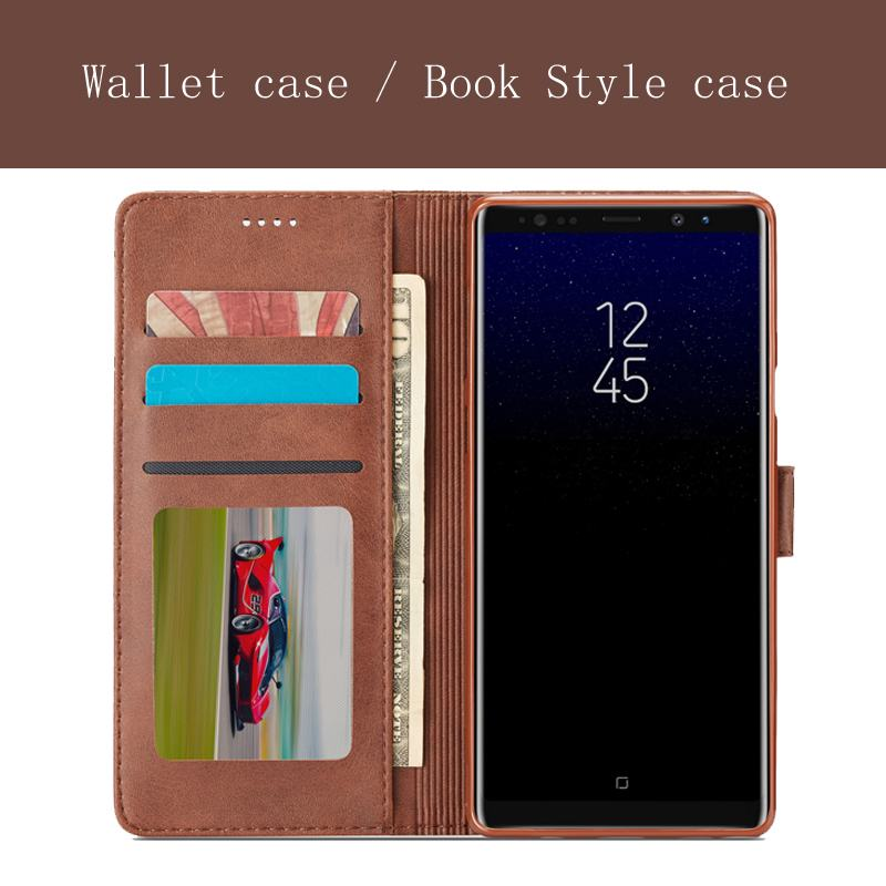 Luxury Flip Case for Samsung Galaxy Note 9 8 S9 S9 plus Leather Case Fashion Magnetic Wallet for Galaxy S8 plus s7 edge s6 Case