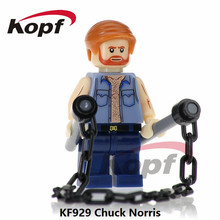 Single Sale The king of Action Films Chuck Norris Spiderman Pantro Building Blocks Super Heroes Bricks Children Gift Toys KF929