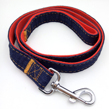 Durable Jean Dog Leash without Dog Collar Best to combine with Retractable Pet Collar Denim Lead Dog Leash Band 4 size optional