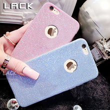 LACK Bling Shining Phone Case For iphone 7 Case Slim Crystal Soft Gel TPU Cases Fashion Glitter Cover For iphone 7 Plus Capa(China)