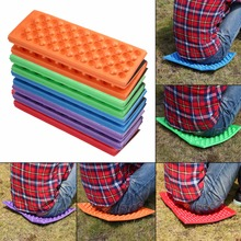 OUTAD 390*275*10mm 5 Colors Foldable Outdoor Camping Picnic Mat Seat Foam XPE Cushion Folding Portable Waterproof Chair Pad(China)