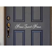 Sweet Home Quote Wall Stickers Vinyl Lettering Word For Front Door or Wall Art Decal Sticker(China)