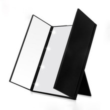 LED Makeup Mirror Folding Table 90 Degree Adjustable Stand Cosmetic Mirror Unique Triple Off The Door Design Dressing Mirror
