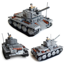 Century Military German Light Tank PzKpfw II Ausf L Luchs 3D Big Model Building Block Armored Vehicle Kazi KY82010 Toys