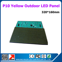 TEEHO P10 Yellow LED Advertising Panel, Semi-outdoor P10 LED Display Module 320x160mm Indoor P10 LED Module