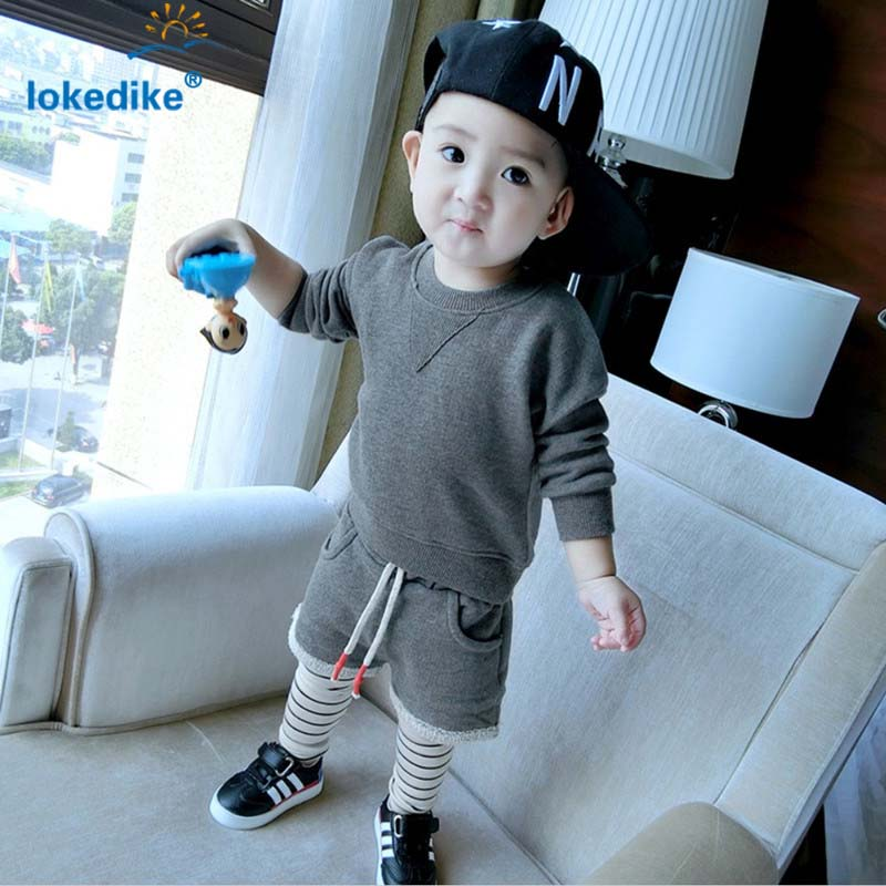 Baby Boys  Clothing  Spring Autumn 2017 New Fashion Cotton Casual  Childrens Clothes Set 2pcs  Long-sleeved T-shirt Pants T2673<br><br>Aliexpress
