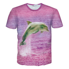 Summer style 3d Dolphin t shirt Women Men pink t-shirt unisex cute animal t shirt casual tee shirt femme