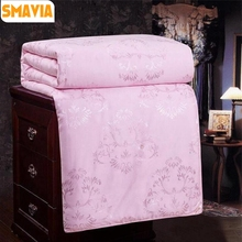 SMAVIA Chinese Silk Duvet Comforter 100% Mulberry Silk Cotton Jacquard Cover Comfortable Blanket Winter Summer Quilt 3 Color(China)