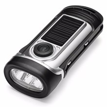 ThorFire Emergency Dynamo Solar Hand Crank LED Flashlight Rechargeable LED Light torch for Camping Hiking