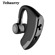 Tebaurry Handsfree Business Bluetooth Earphone Sport Wireless Bluetooth Headset Music Earphone Voice control with Mic audifono