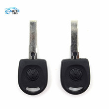 100PCS/LOT New arrive Blank Shell For Volkswagen (VW) B5 Passat Transponder Key (HU66) + with logo Free Shipping