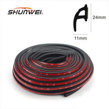 "4M 2016 ""P"" Type Car Seal Strip Auto Door Window Trunk Seal Dustproof Sound Insulation EPDM RUBBER Strips Also applies to home"