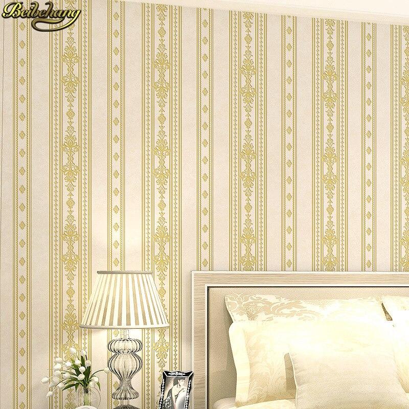 beibehang papel de parede 3D European blue stripes wallpaper for walls 3 d Bedroom Living Room Wall Paper roll contact paper<br>