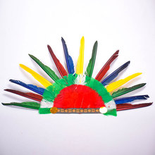 Hot Sale Indian Style Feather Party Hats Halloween Headband Villus Chiefs Cap Party Headdress Headwear