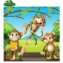 YUMEART 5d art Crafts Diamond Painting Cross stitch Mosaic diamond DIY Diamond Embroidery Rhinestones needlework animal monkey(China)