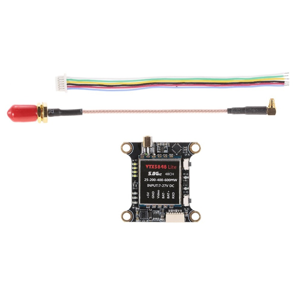 VTX5848 LITE 48CH 5.8G 25/100/200/400/600mW Switchable VTX Video Transmitter Module OSD Control For FPV RC Multicopter Models tt(China)