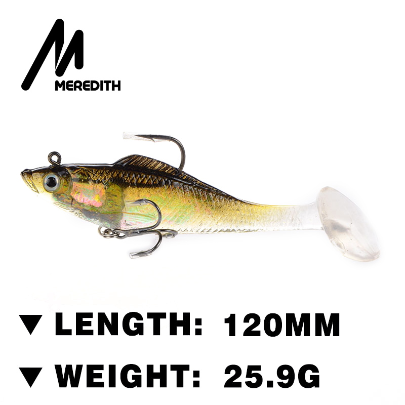 Meredith fishing JXJ01-12 3pcs 25.5g 120mm  soft lead fish fishing lures  soft bait bass hook Retail<br><br>Aliexpress
