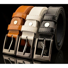 2017 Top quality PU childrens belts brand design children's waist belts for pants trousers boy's jeans belt metal buckle pin