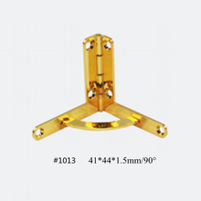 41*44*1.5mm Hinges With Screws Zinc Alloy Quadrant Hinge For DIY Wooden Box Cases Humidor Jewellery 100PCS/lot(China)