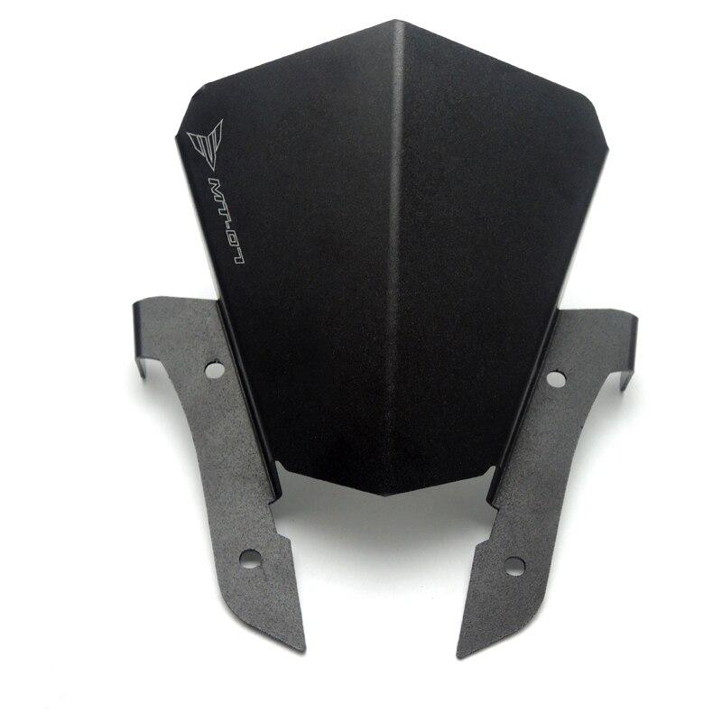 Aluminum Motorcycle Motorbike Windshield Windscreen Black For Yamaha MT07 MT-07 2013 2014 2015<br><br>Aliexpress