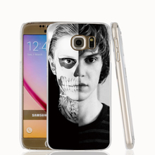 18142 evan peters doule face life cell phone case cover for Samsung Galaxy S7 edge PLUS S6 S5 S4 S3 MINI