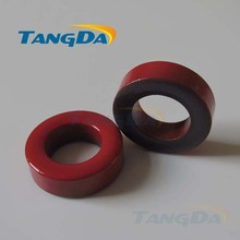 Tangda Iron powder cores T130-2 OD*ID*HT 33.5*19*12 mm 11nH/N2 10uo Iron dust core Ferrite Toroid Core Coating Red gray