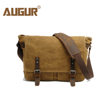 Buy AUGUR Men's Messenger Bag Canvas Leather Crossbody Bag Men Military Army Vintage Large Shoulder Bag Travel Bags for $40.76 in AliExpress store