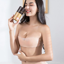 Buy Backless Bras One-piece Adhesive Invisible Reusable Silicone Nipple Cover Bra Pad Skin Adhesive Breast Petals Party Dress #D